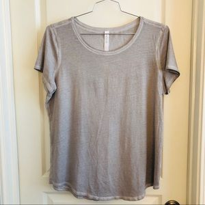 Lululemon Love Crew *Fade Dyed Gray Tee T-shirt